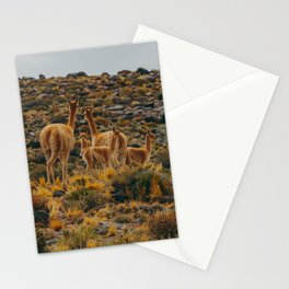 Family of Guanaco Stationery Cards