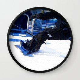 Snowboarder Skidding Winter Sports Gift Wall Clock