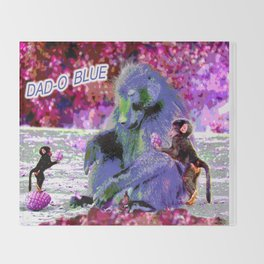 DAD-O BLUE Throw Blanket