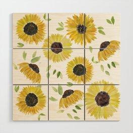 Sunflowers Wood Wall Art