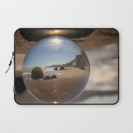 Beach Ball refraction photography with crystal ball Laptop Sleeve