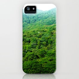 Green Hills of Hakone iPhone Case