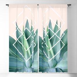 Agave geometrics - peach Blackout Curtain