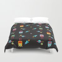 cyclops Duvet Covers featuring CYCLOPS BLACK by Sofia Verger