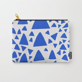 Blue Triangles Abstract Minimal Art Carry-All Pouch
