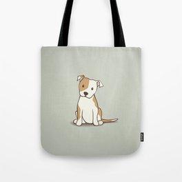 Staffordshire Bull Terrier Dog Illustration Tote Bag