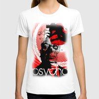 psycho T-shirts featuring psycho by RIGOLEONART