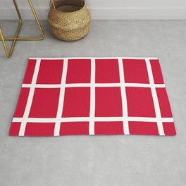 abstraction from the flag of denmark Rug