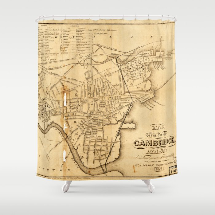 Map of Cambridge, Machusetts (1857) Shower Curtain by thearts Cambridge Ma Map on cambridge ia map, cambridge md map, cambridge mn map, cambridge wi map, cambridge ny map, cambridge oh map, somerville cambridge boston map, cambridge id map, cambridge london map, cambridge nz map, charlotte nc map, cambridge il map, boston massachusetts city map, cambridge england map,