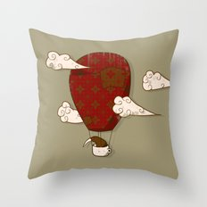 The Kiwi Learns to Fly Throw Pillow