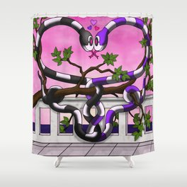 Hugs and Hisses Shower Curtain