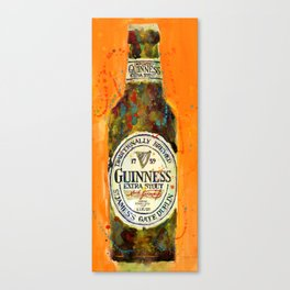 Guinness Extra Stout - Traditional  Brewed Beer Art Canvas Print