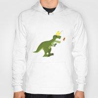 dinosaur Hoodies featuring dinosaur by Nir P