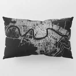 New Orleans map Pillow Sham