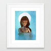 daria Framed Art Prints featuring Daria by gapinska