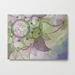 Mandala | Fluid Art | Boho | Gypsy Metal Print