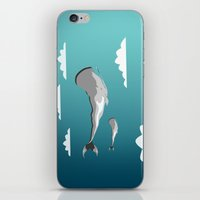 the whale iPhone & iPod Skins featuring Whale by mark ashkenazi