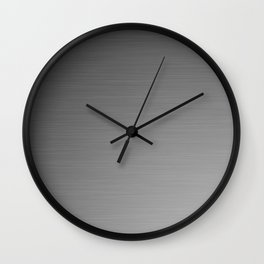 Smooth Sheet Metal Dull Ombre Texture Graphic Design Wall Clock