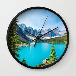 Lake Moraine, Alberta, Canada Wall Clock