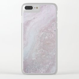 Elegant Pink Polished Marble Clear iPhone Case