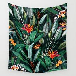 Midnight Garden V Wall Tapestry