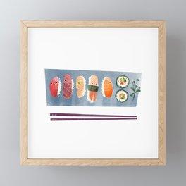 Sushi Friends Framed Mini Art Print