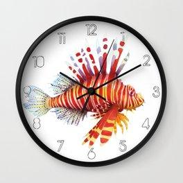 Firefish - lion fish Wall Clock