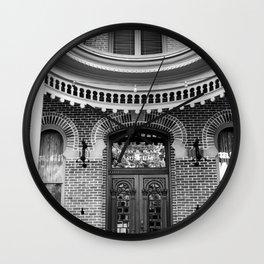 Doorway in Black & White Wall Clock