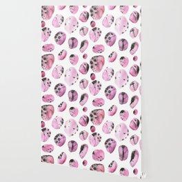 watercolor polka dots seamless pattern Wallpaper