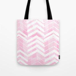 Pretty in Pink Chevron Tote Bag