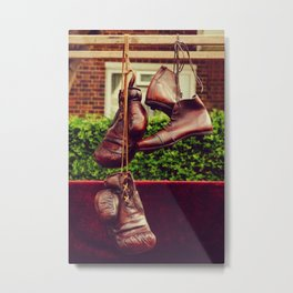 Vintage sport clothes | Second-hand market in London  Metal Print