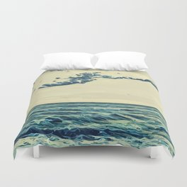 Seaside in Cannes Landscape Duvet Cover