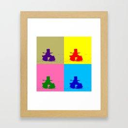 INUKSHUK - Meaningful Messenger Color Block Framed Art Print