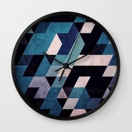 0052 // blux redux Wall Clock
