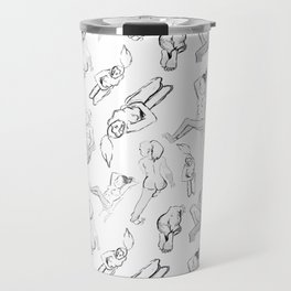 Life Drawing Fashion Pattern Travel Mug