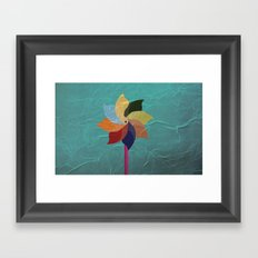 Toy Windmill Framed Art Print
