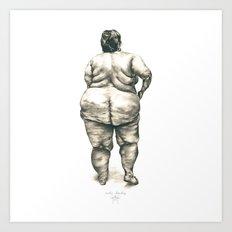 mujer en la ducha Art Print