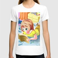 bible T-shirts featuring Girl Reading the Bible by Bemmygail