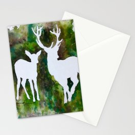 Deer silhouette Stationery Cards
