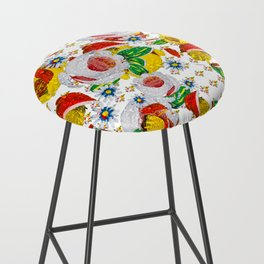 Canal Flowers Chaos pattern Bar Stool