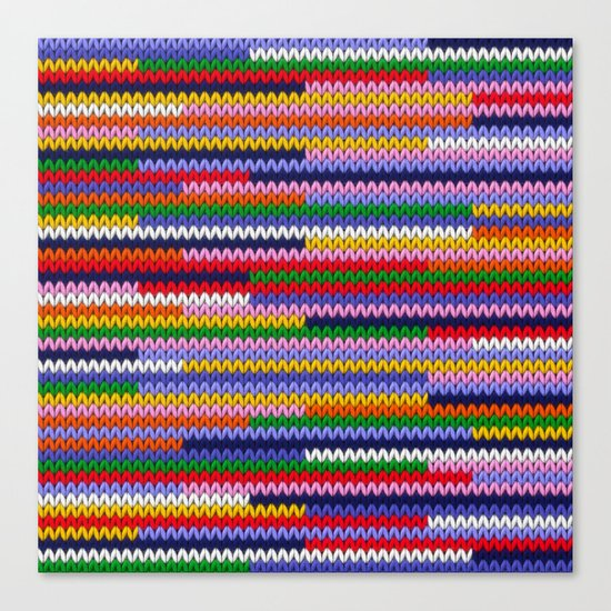 Knitted random lines Canvas Print