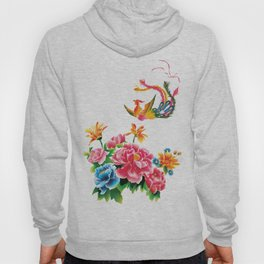chinese peonies and phoenix Hoody