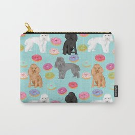 Toy Poodle donuts pet portrait dog breed dog pattern pet friendly dog lovers Carry-All Pouch