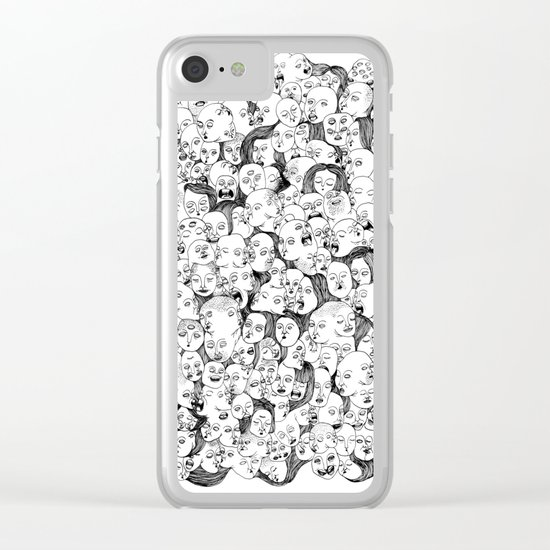 Faces Clear iPhone Case