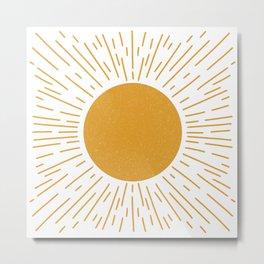 Just shine. Bright yellow sunshine Metal Print