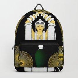 """Art Deco Design """"The Emerald Vase"""" Backpack"""