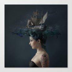 Sailing - Blue Canvas Print