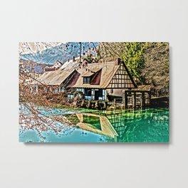 The watermill Metal Print