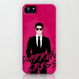 Pink Darren Criss iPhone Case