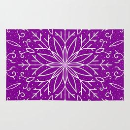 Single Snowflake - Purple Rug